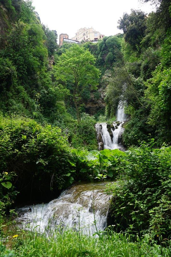 I giardini della villa D'este fotografie stock libere da diritti