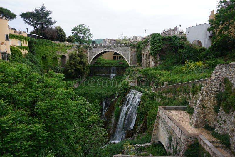 I giardini della villa D'este fotografia stock