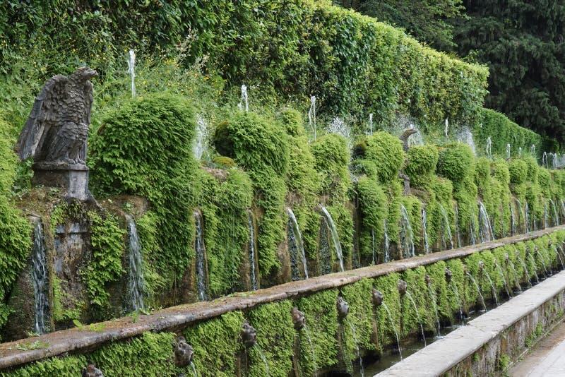 I giardini della villa D'este immagini stock libere da diritti