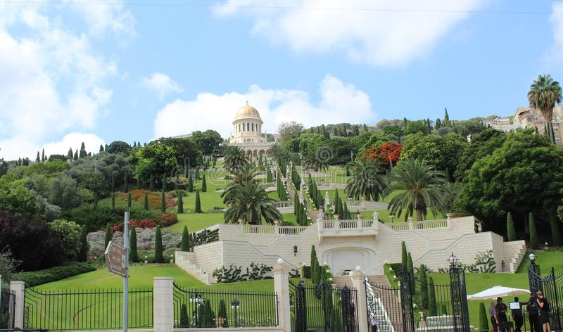 I giardini di Bahai fotografie stock