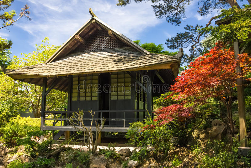I giardini giapponesi del perno nazionale irlandese.  Kildare. L'Irlanda fotografia stock