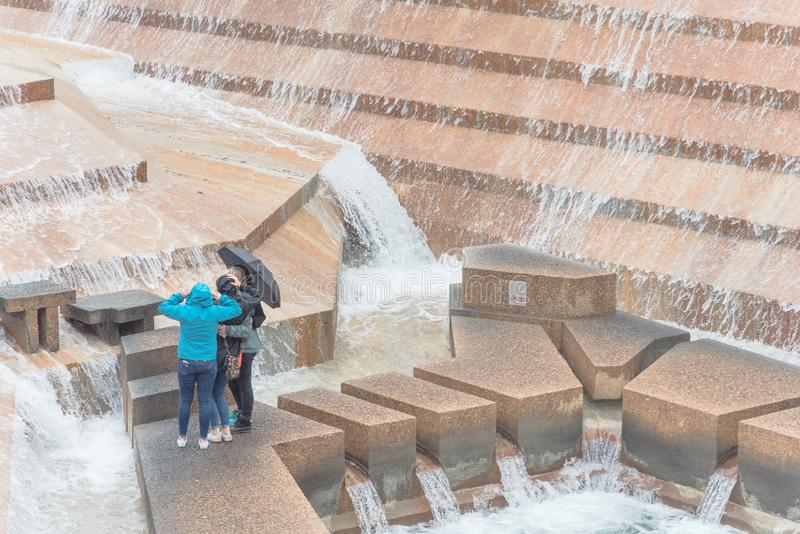 I giardini pubblici dell'acqua parcheggiano a Fort Worth, il Texas, U.S.A. fotografia stock libera da diritti