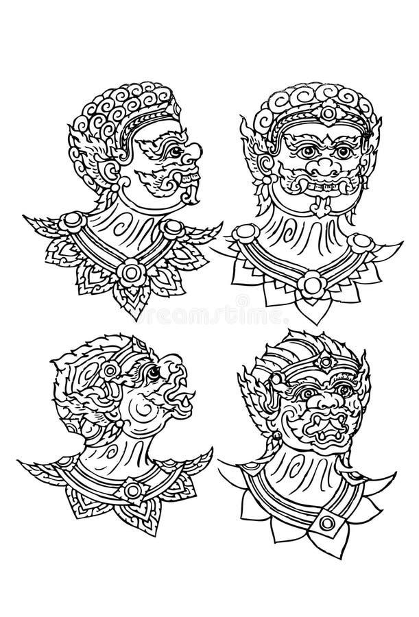 Download I gigantyczny Hanuman. ilustracji. Ilustracja złożonej z literatura - 28956425