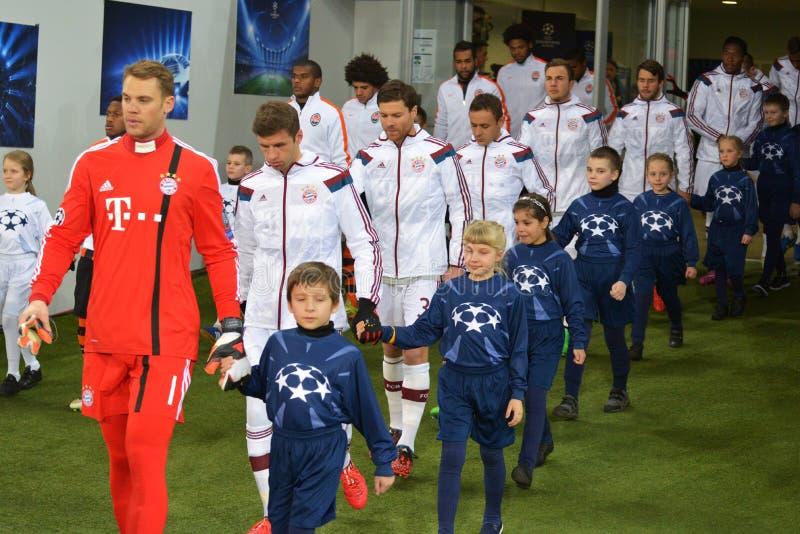 I giocatori di Baviera stanno andando al passo immagine stock libera da diritti