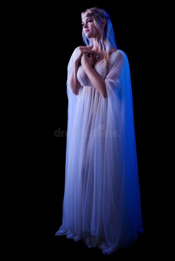 I giovani elven la ragazza isolata fotografia stock
