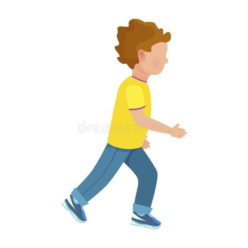 I giovani funzionamenti anonimi del ragazzo hanno isolato l'illustrazione illustrazione di stock