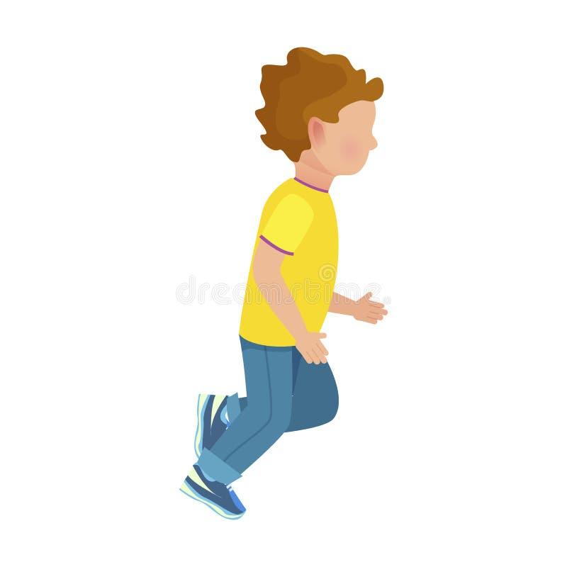 I giovani funzionamenti anonimi del ragazzo hanno isolato l'illustrazione illustrazione vettoriale