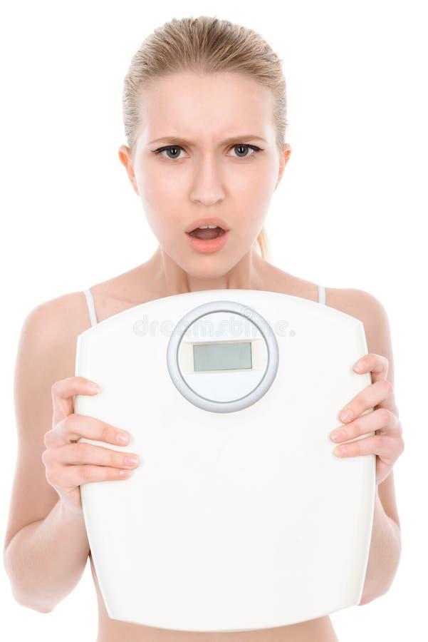 Download I Giovani Misura La Ragazza Bionda Isolata Su Bianco Fotografia Stock - Immagine di ragazza, idoneità: 55351898