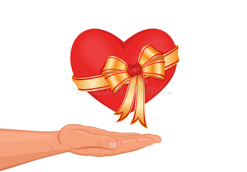 Download I give you my heart! stock vector. Illustration of offering - 12481425