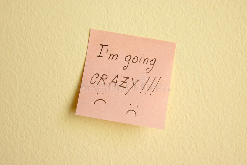 I am going crazy royalty free stock photo