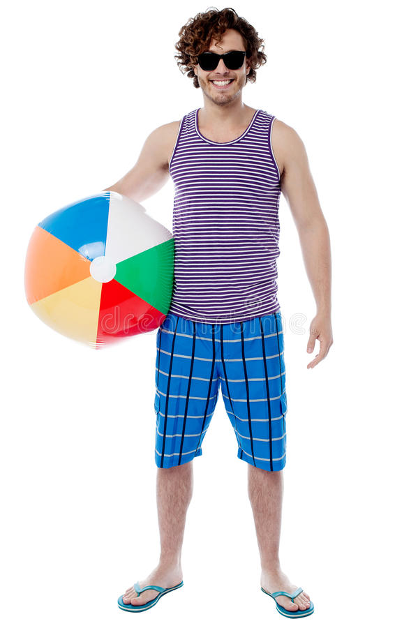 I going to play in beach. stock images