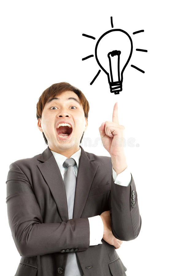Download I got the idea stock photo. Image of pointing, excellent - 25347508