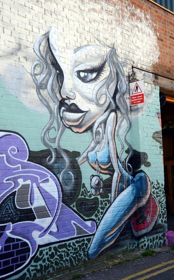 I graffiti murano a Brighton fotografia stock