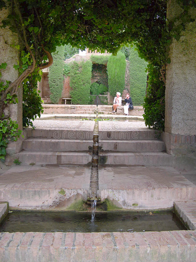 Den Alhambra slotten arkivbild
