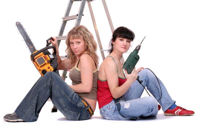 I guardiani della riparazione fotografia stock