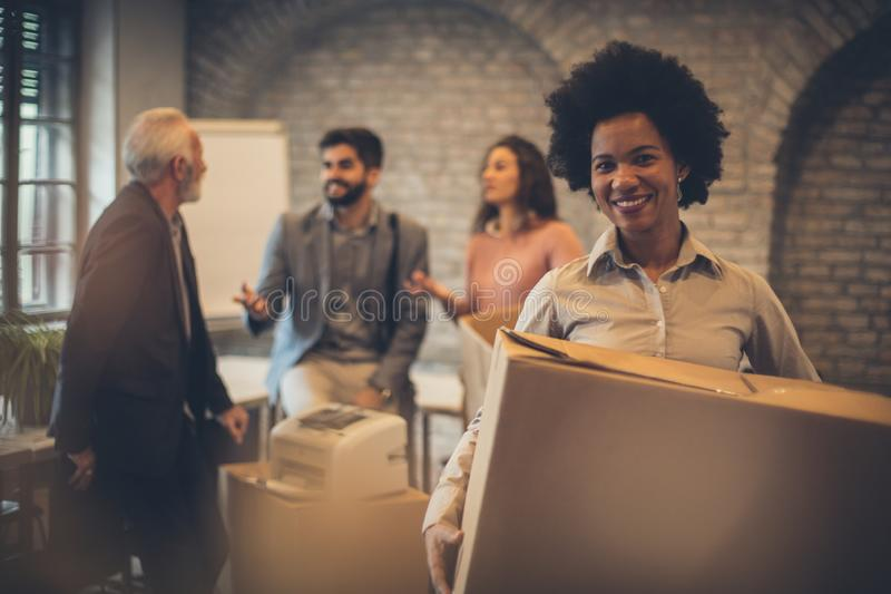 I am happy for this job stock photography