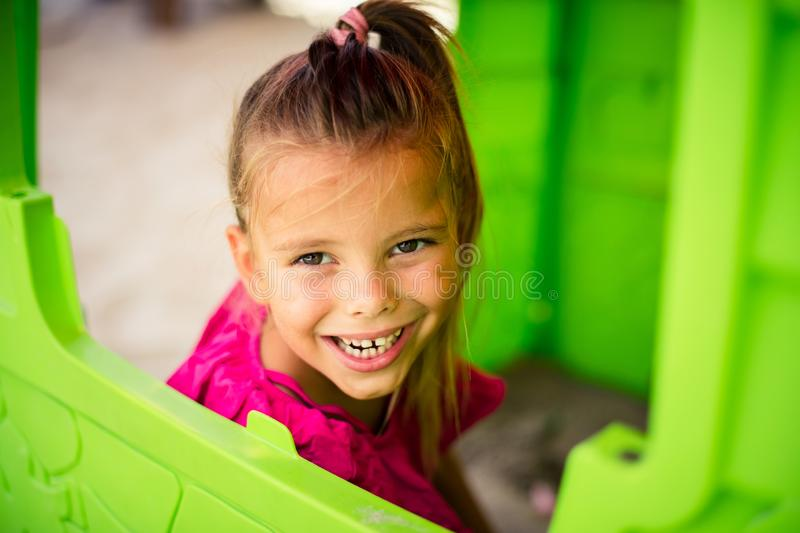 I am happy little girl. stock images