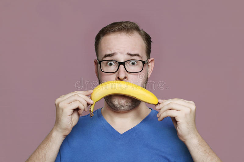 I hate bananas royalty free stock image