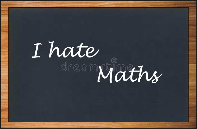 I hate maths