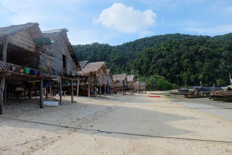 Morgan Village, Surin Island, Thailand 2017. I have been in Morgan Village, Surin Island, Thailand since 2017 stock images
