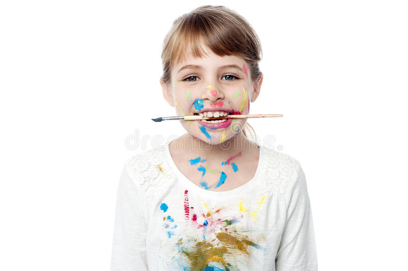 I have completed the art ! royalty free stock photos
