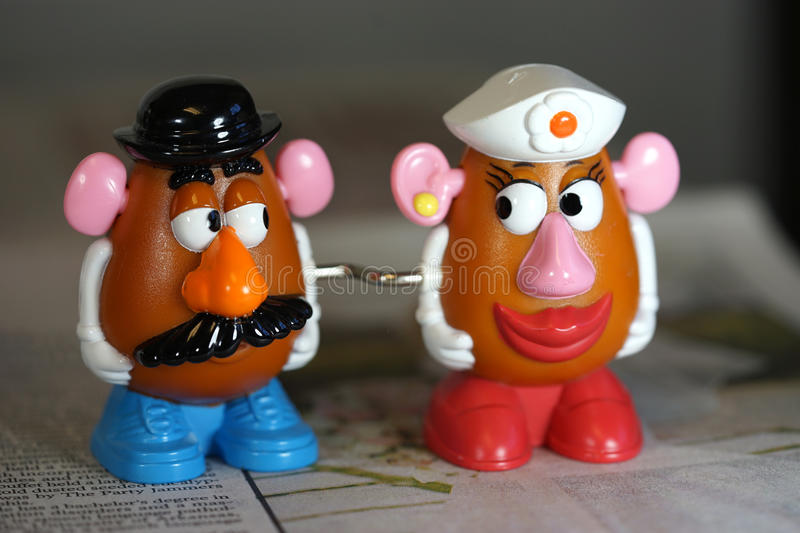 I only have eyes for you - Mr. Potato Head stock image