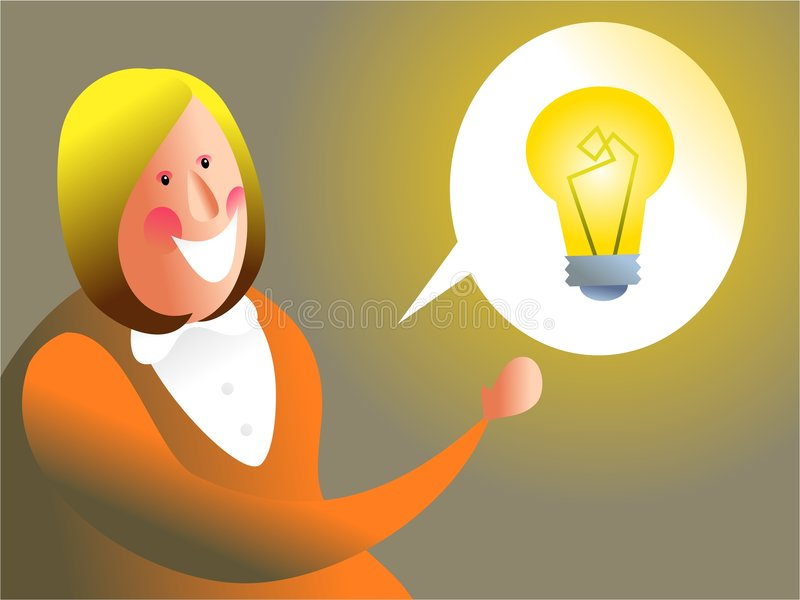 I have an idea stock illustration