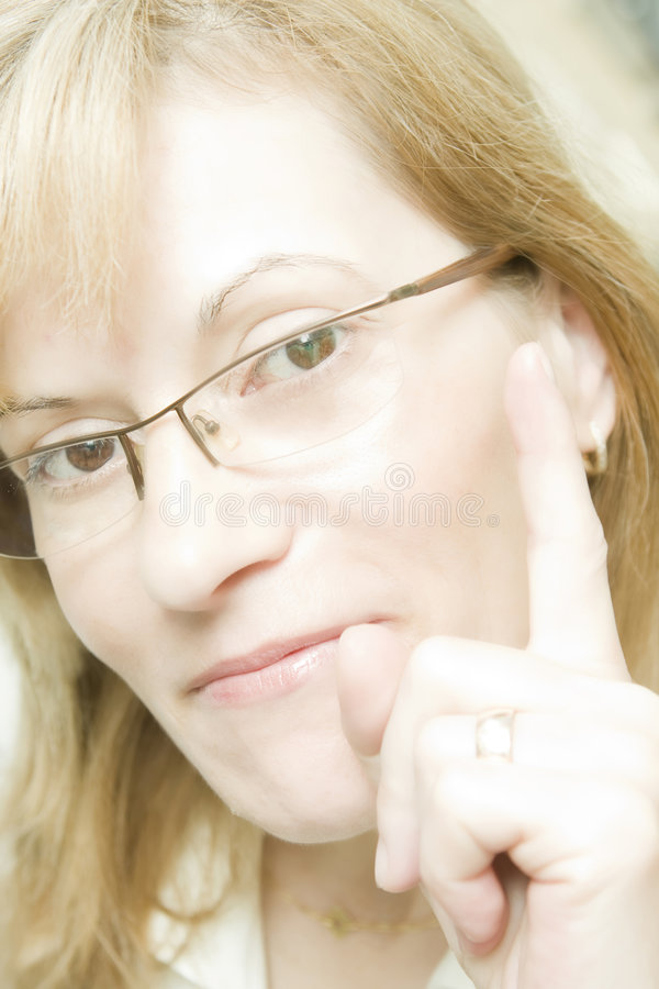 Download I have an idea stock photo. Image of staring, gesturing - 5451714