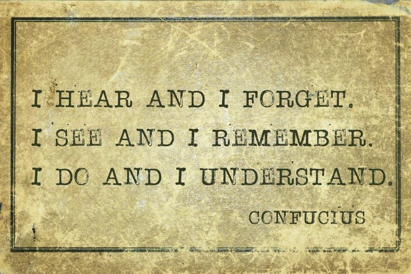 Understand Confucius stock illustration