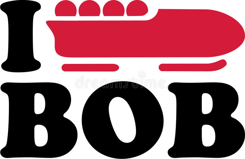 I heart Bobsleigh vector illustration