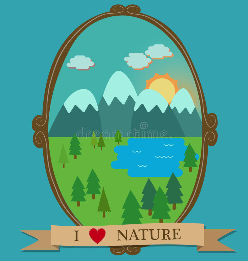 Download I heart nature stock illustration. Illustration of border - 43584232