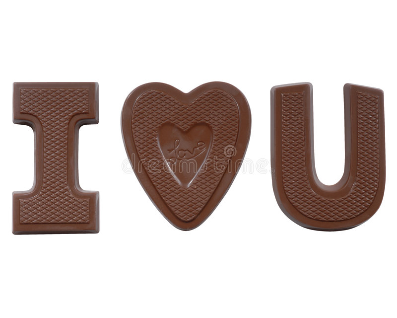 Download I heart u stock photo. Image of love, written, brown, topping - 2302544