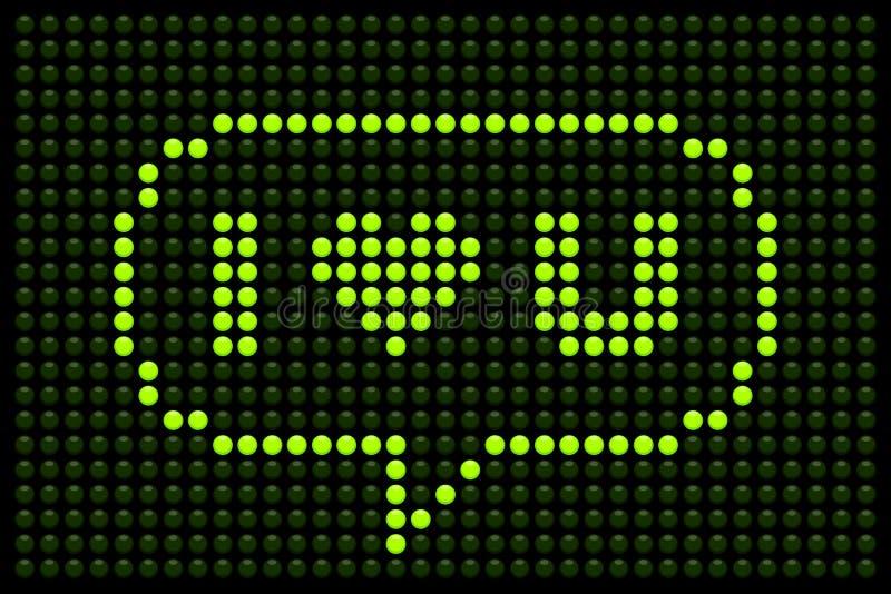 I Heart U LED Board. I Heart U message displayed on a green LED board stock illustration