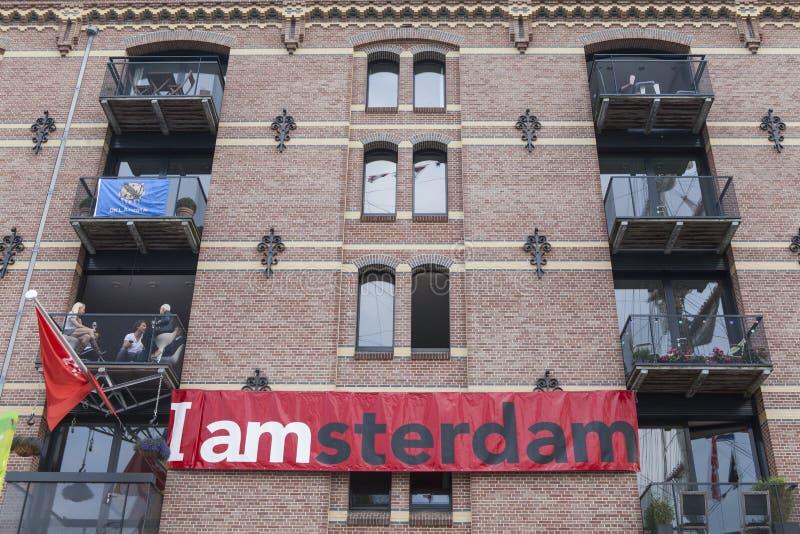 I het teken van Amsterdam royalty-vrije stock afbeelding