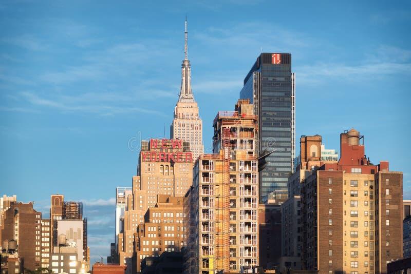 I horisonten Wyndham New Yorker, ett av de populäraste och mest stilfulla New York City hotellen arkivfoto