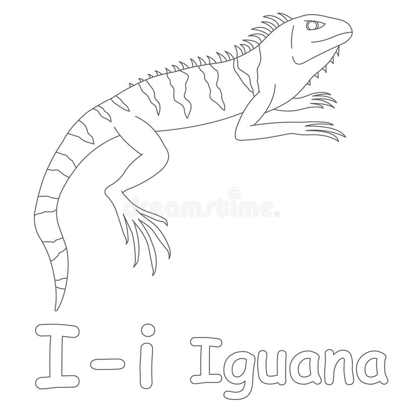download i for iguana coloring page stock illustration illustration of letter 39701651 - Iguana Coloring Page