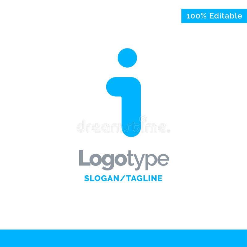 I, Info, Information, Modelo de Logotipo Sólido Azul de Interface Local para Tagline ilustração royalty free