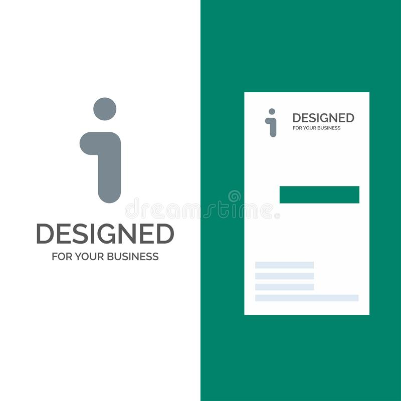 I, Informatie, Informatie, Interface Grey Logo Design en Visitekaartjemalplaatje stock illustratie