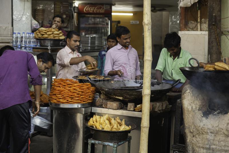 I Just Fancy a Samosa. I couldn`t help noticing those Samosas at the front of this street food stall in Varanasi. They where fantastic and and filled a small royalty free stock images
