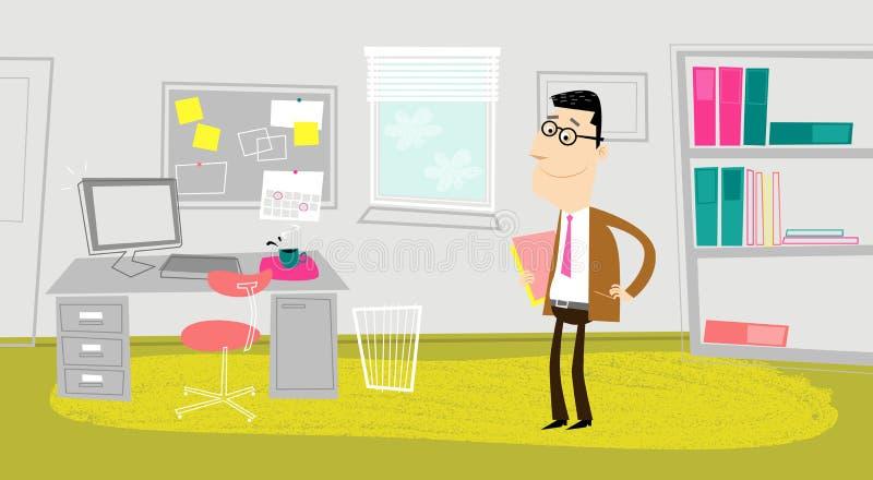 I kontoret royaltyfri illustrationer