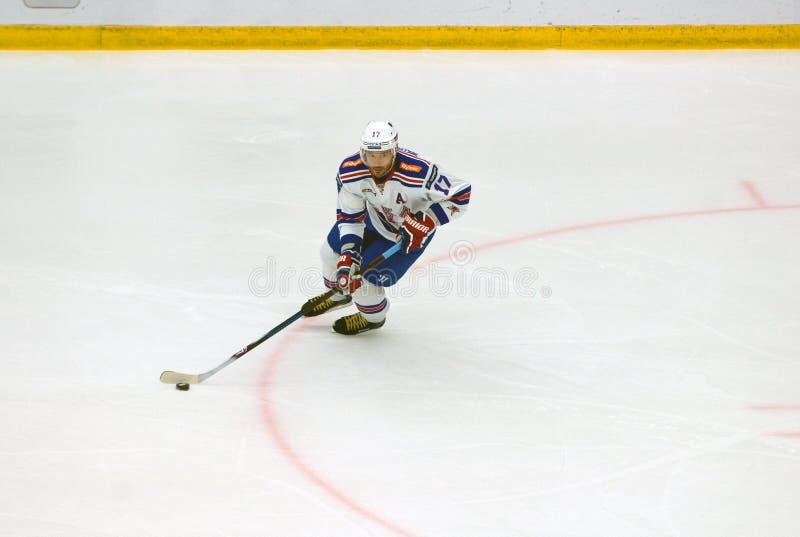 I Kovalchuk ( 17) dribble royalty-vrije stock fotografie