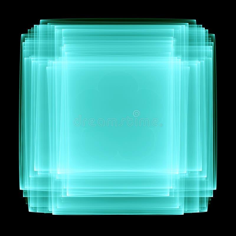 I lager skärm för ljus turkos på en svart vektor illustrationer
