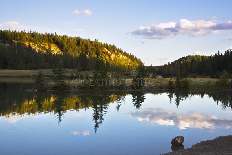 I laghi ben noti cascade. Alba fotografia stock libera da diritti