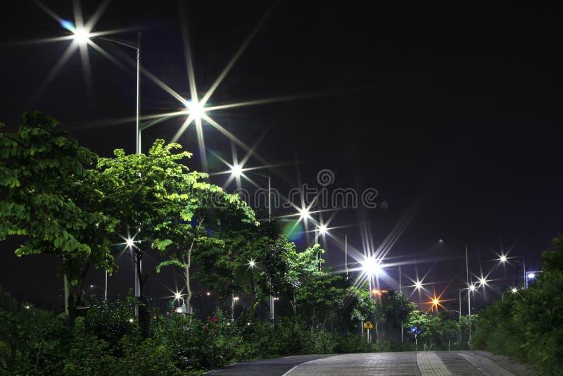 I lampioni economizzatori d'energia fatti dal LED immagini stock
