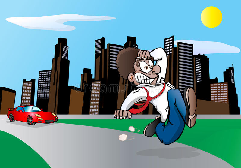 Download I am late! stock illustration. Image of adult, emotion - 18229315