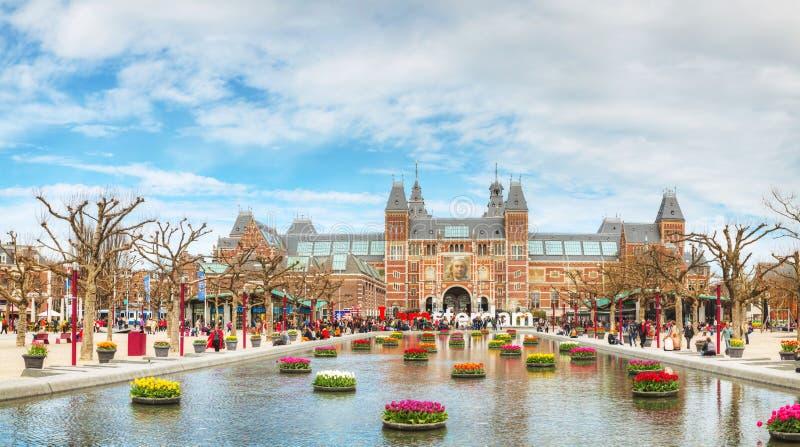 I lema de Amsterdam delante de Rijksmuseum imagen de archivo