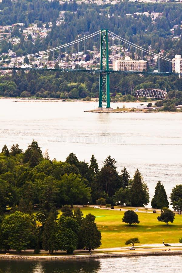 I leoni gettano un ponte su a Vancouver Canada immagini stock