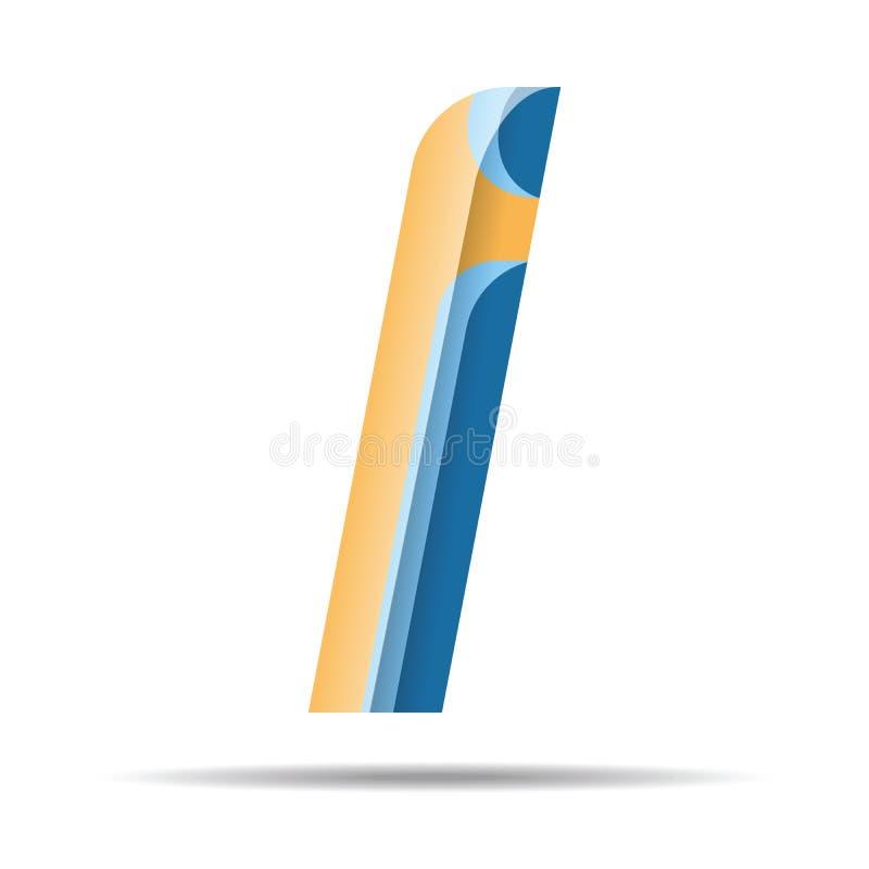 I Letter Colorful Modern alphabet logo. vector illustration