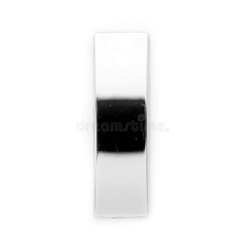 I - Lettera del metallo immagine stock