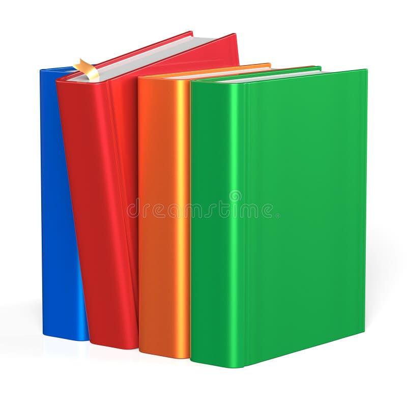 I libri remano una condizione variopinta rossa di selezione di quattro coperture in bianco illustrazione di stock
